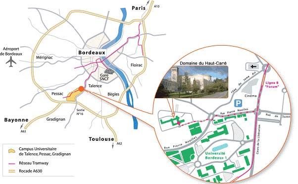 Carte Campus Bordeaux.2nd Eccomas Young Investigators Conference Yic 2013 Sciencesconf Org